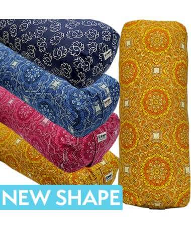 Printed Oval Yoga Bolsters