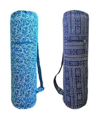 Cotton Canvas Printed Yoga Mat Bags